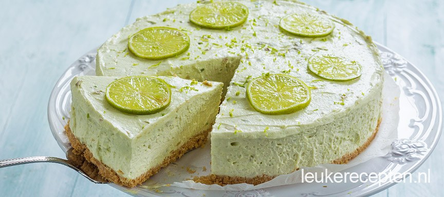 avocado limoen cheesecake www.leukerecepten.nl