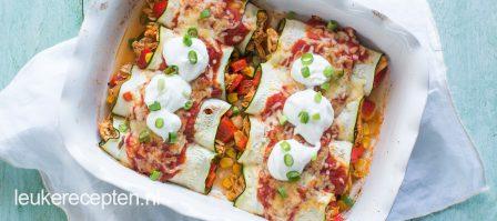 Enchiladas van courgette
