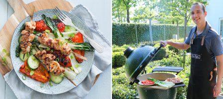 Onze eerste ervaring met de Big Green Egg + kip hoisin BBQ salade
