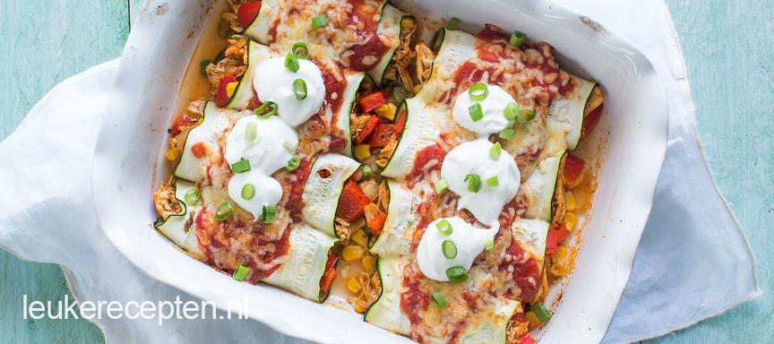 enchiladas van courgette www.leukerecepten.nl