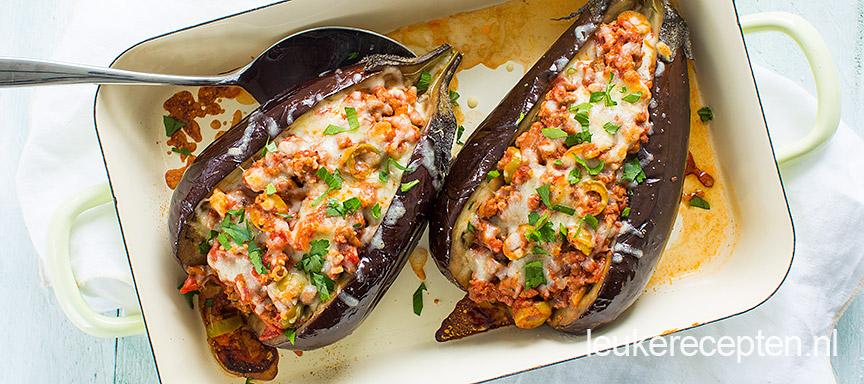 gevulde aubergine www.leukerecepten.nl