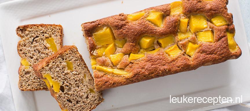 mango met bananenbrood www.leukerecepten.nl