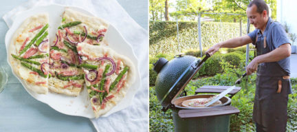 Flammkuchen, ananas crumble en bruschetta's van de Big Green Egg