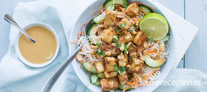 Mihoensalade met tofu