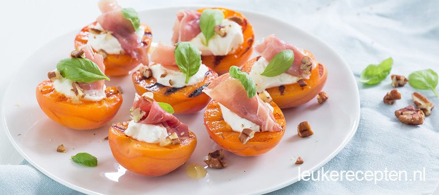 Gevulde abrikozen met mascarpone