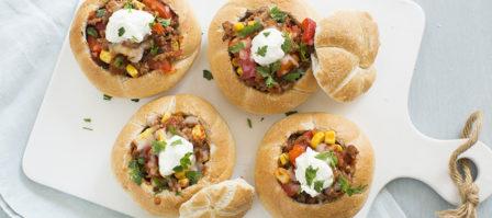 Gevulde Mexicaanse broodjes