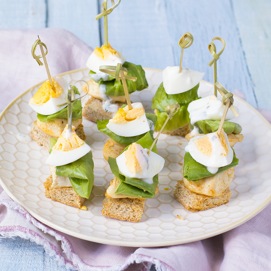 Betere Caesar salade prikkers - Leuke recepten GF-02