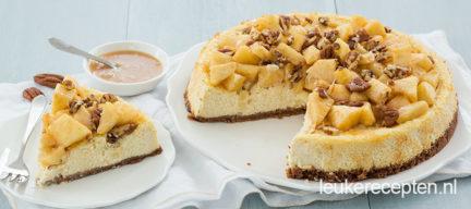 Cheesecake met appel en kaneel