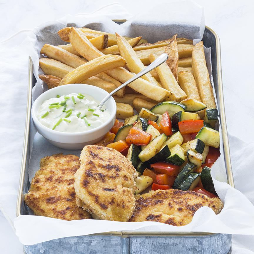 gepaneerde vis met frieten www.leukerecepten.nl