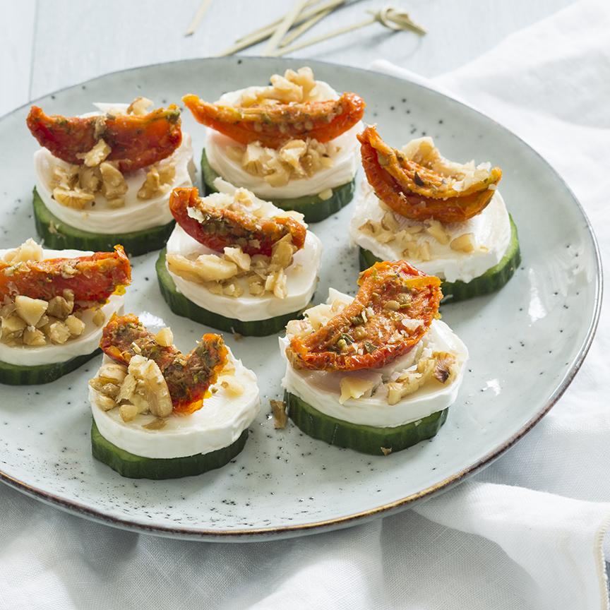 komkommer-met-geitenkaas