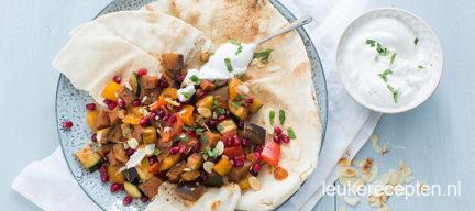 Libanees brood met groenten