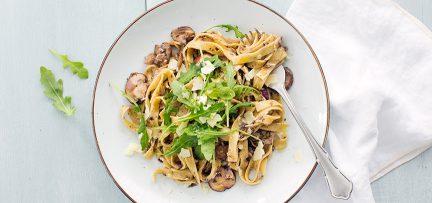 Pasta met champignons en truffel