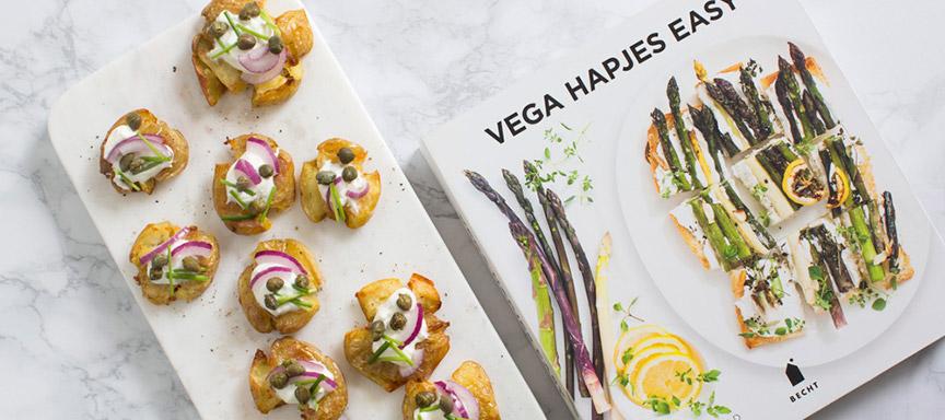 Review Vega Hapjes Easy + recept latkes uit de oven