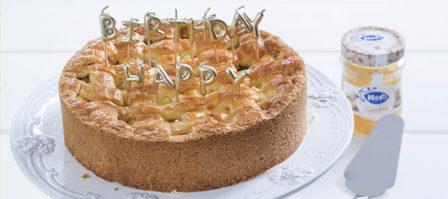 Mijn verjaardagstaart: appeltaart met ananas en gember