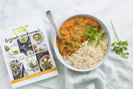 Review boek Gezonde weekmenu's + vegetarische stroganoff
