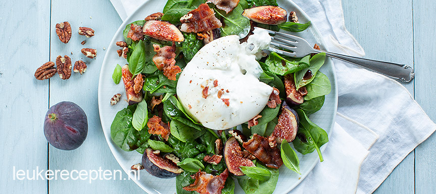 Vijgen salade met burrata