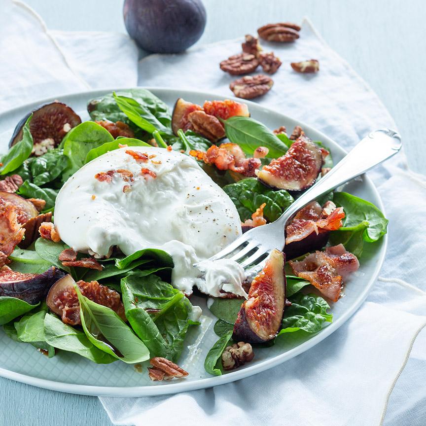 Vijgen salade met burrata www.leukerecepten.nl