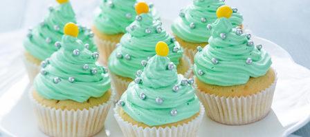 Makkelijk bakken met Kerst: kerstboom cupcakes
