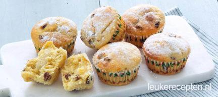 Kerststol muffins