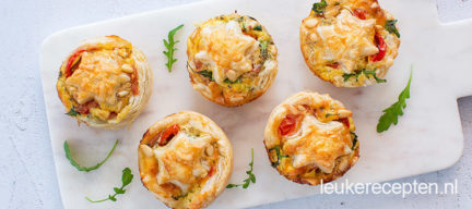 Mini kerst quiches