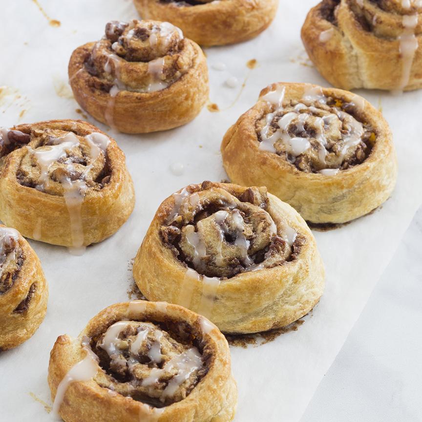 snelle kaneel pecan broodjes www.leukerecepten.nl