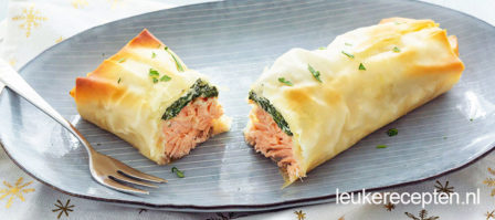 Zalm in filodeeg