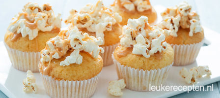 Popcorn muffins karamel zeezout