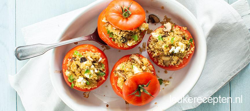 Light recept: gevulde tomaten met quinoa