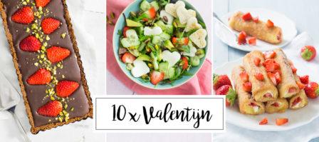 10 x recepten voor valentijn