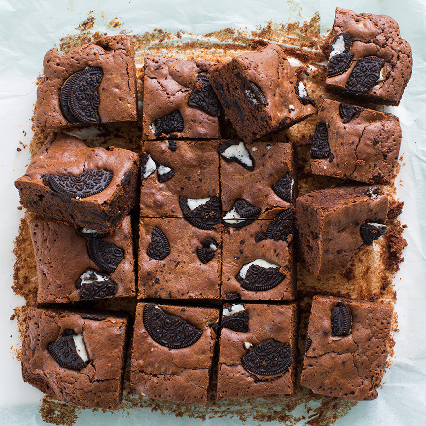 Brownies met oreo www.leukerecepten.nl