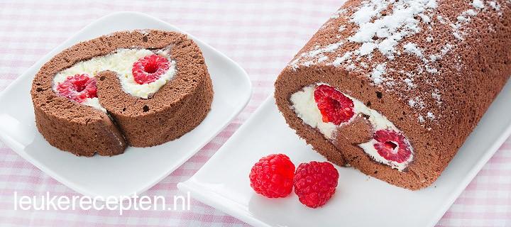 chocoladecake rol www.leukerecepten.nl