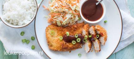 Tonkatsu (japanse schnitzel)
