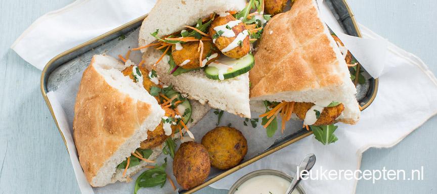 zoete aardappel falafel www.leukerecepten.nl