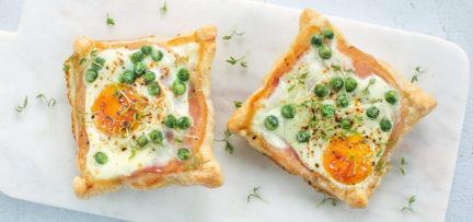 Bladerdeegtaartje met ei