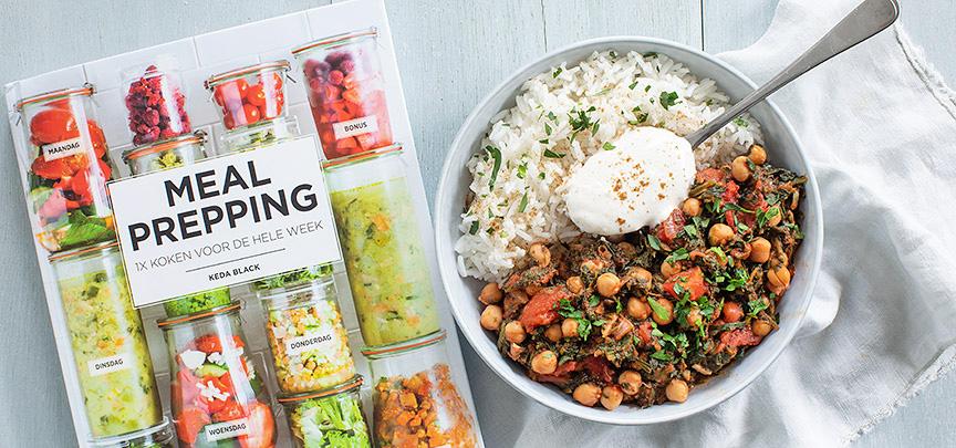 Review boek Meal Prepping + recept kruidige kikkererwten met spinazie