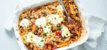 Ovenschotel chili con carne met pasta