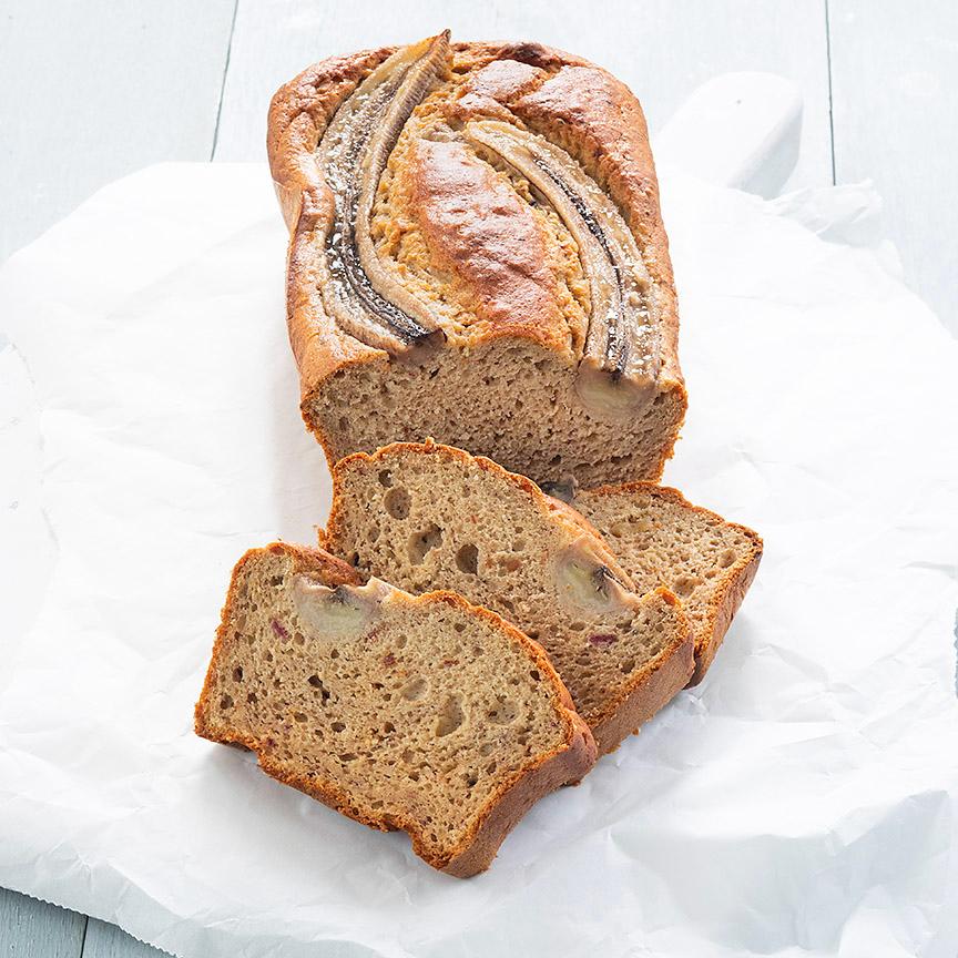 gezond bananenbrood www.leukrecepten.nl
