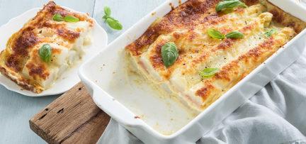Lasagne met witte asperges
