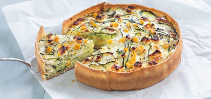 Courgette quiche met geitenkaas