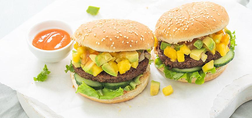 Vegaburgers met mangosalsa