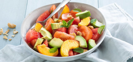 Watermeloen salade met perzik