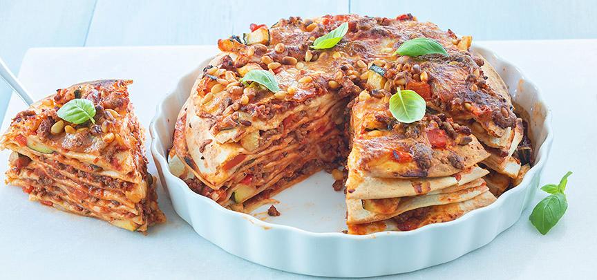 Italiaanse wraptaart met mozzarella