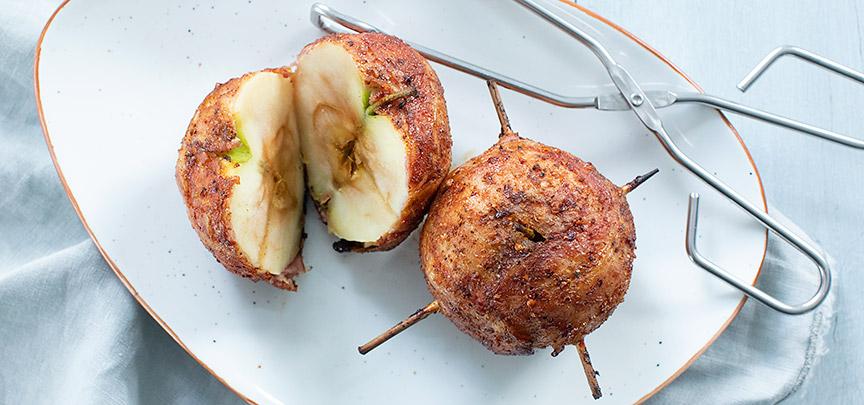 Appels in spek van de BBQ