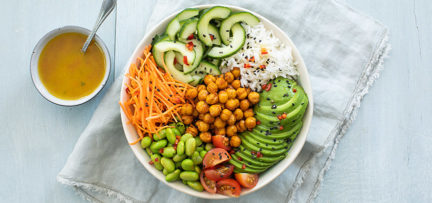 Vegetarische & vegan poké bowl