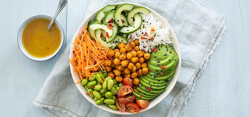 Vegetarische & vegan poké bowl