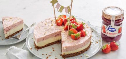 Mijn verjaardagstaart: witte chocolade aardbeien kwarktaart