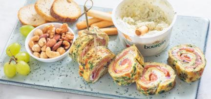 Kruiden omeletrolletjes met zalm + winnaar Boursin actie!