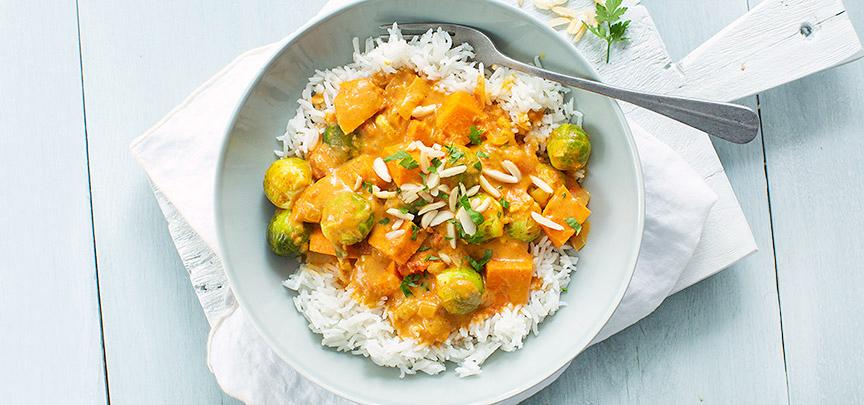 Curry met spruitjes