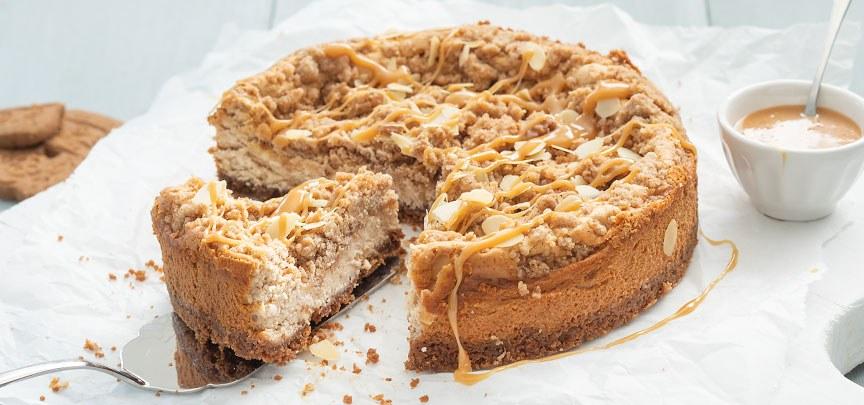 Cheesecake met speculaas crumble