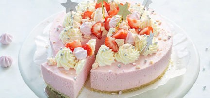 Kerst Eton Mess aardbeien kwarktaart